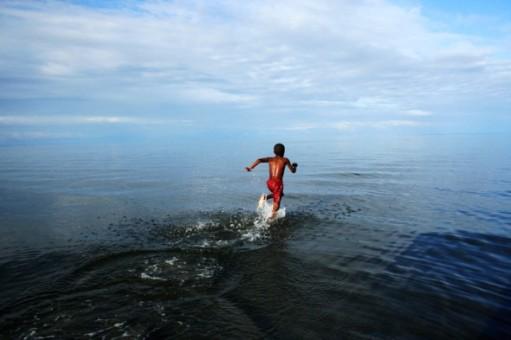 runnign on water