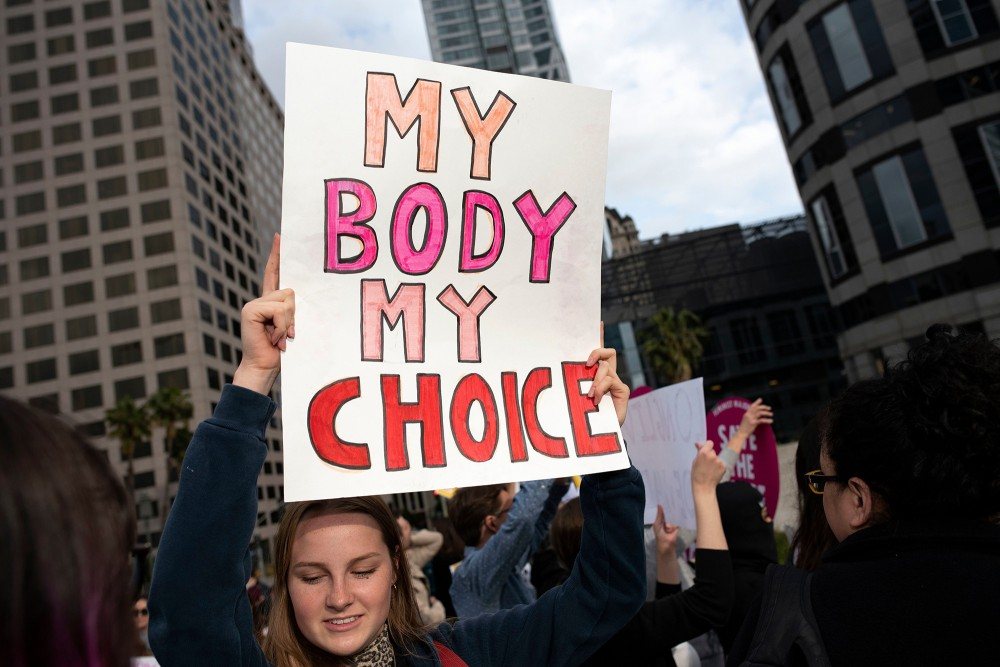Abortion rights rally, Los Angeles, USA - 21 May 2019